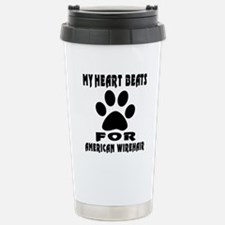 My Heart Beats For Amer Travel Mug