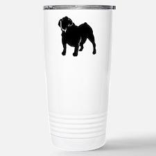Bulldog silhouette Stainless Steel Travel Mug