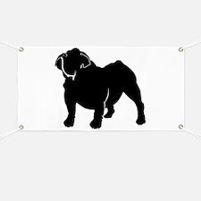 Bulldog silhouette Banner