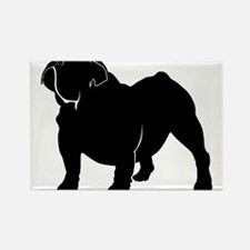 Bulldog silhouette Magnets