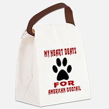 My Heart Beats For American Bobta Canvas Lunch Bag