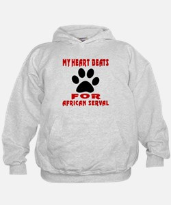 My Heart Beats For African serval Cat Hoodie