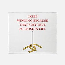 horseshoes joke Throw Blanket