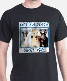 LIFE'S A BEACH ASH GREY TEE T-Shirt