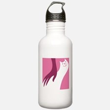 cat cartoon art Water Bottle