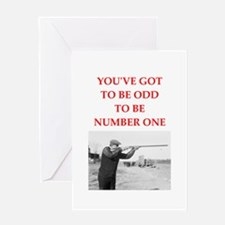 trap shooting joke Greeting Cards