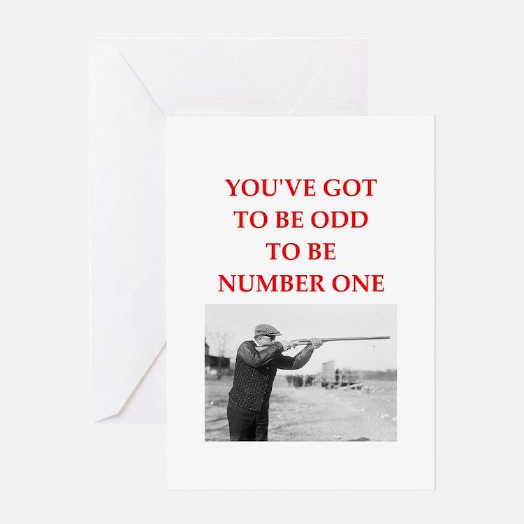 trap shooting joke Greeting Cards