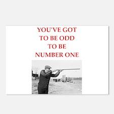trap shooting joke Postcards (Package of 8)
