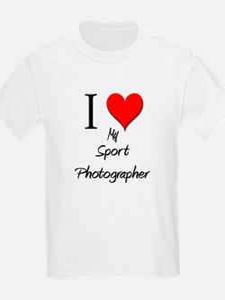 I Love My Sport Photographer T-Shirt