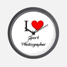 I Love My Sport Photographer Wall Clock