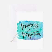 Progress not Perfection Greeting Cards