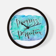 Progress not Perfection Wall Clock