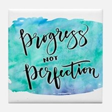 Progress not Perfection Tile Coaster