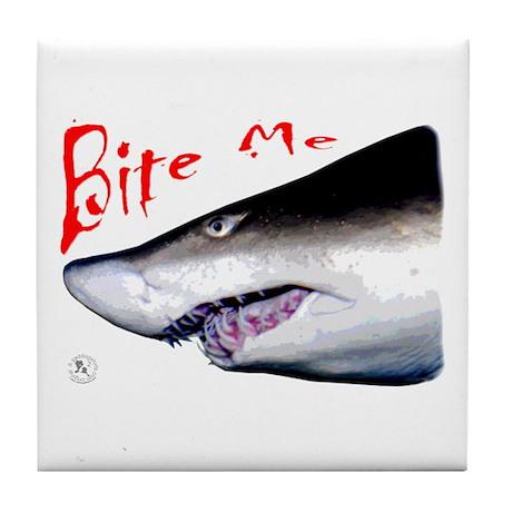 Shark: Bite Me Tile Coaster