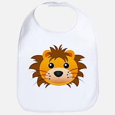 Lion face cartoon Bib