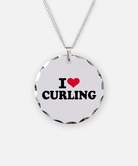 I love Curling Necklace