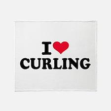 I love Curling Throw Blanket