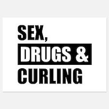 Sex Drugs Curling Invitations