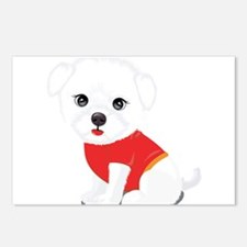 Bichon frise dog Postcards (Package of 8)