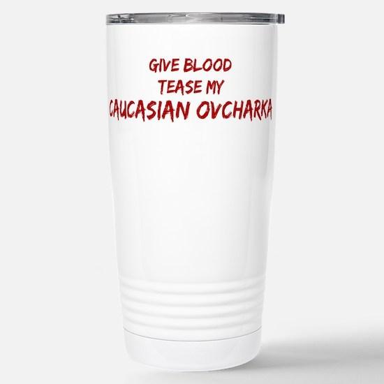 Tease aCaucasian Ovcharka Mugs