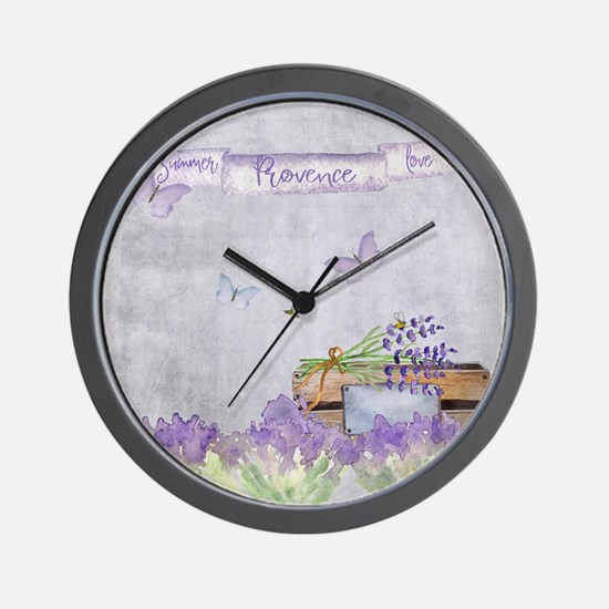 Summer-Provence - Love Wall Clock