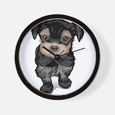 Cute Yorkipoo dog Wall Clock