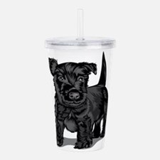Cute Schnoodle dog Acrylic Double-wall Tumbler
