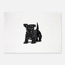 Cute Schnoodle dog 5'x7'Area Rug