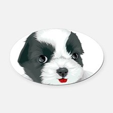 Bolognese dog Oval Car Magnet