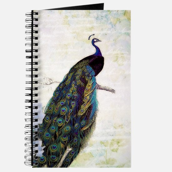 Peacock and hydrangea Journal