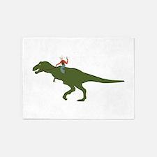 Dinosaur Cowboy 5'x7'Area Rug