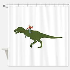 Dinosaur Cowboy Shower Curtain