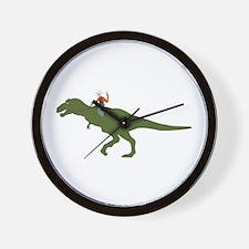 Dinosaur Cowboy Wall Clock