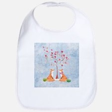 Tree of LOVE - 2 foxes under the love tree Bib