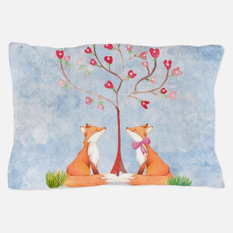 Tree of LOVE - 2 foxes under the love Pillow Case