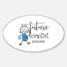 Future Scientist Personalized Sticker (Oval)