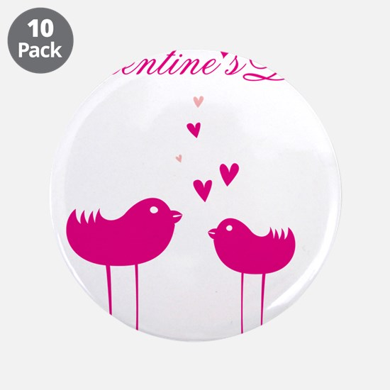 """Romantic card with birds in 3.5"""" Button (10 pack)"""