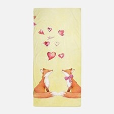 Fox LOve Beach Towel