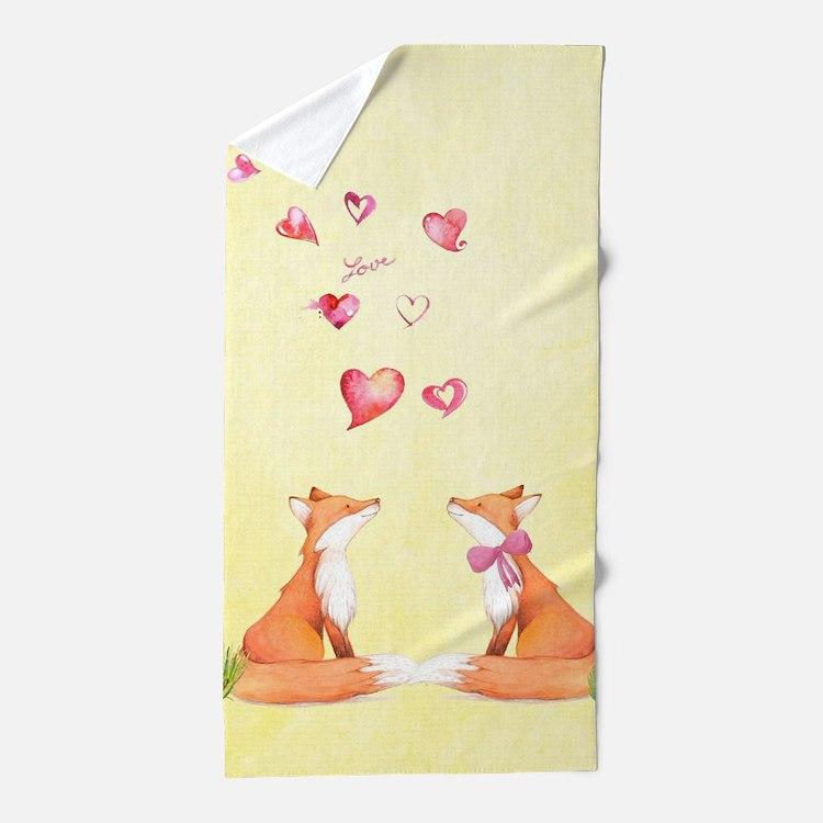 Fox LOve Beach Towel