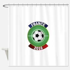 France 2016 Soccer Shower Curtain