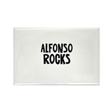 Alfonso Rocks Rectangle Magnet
