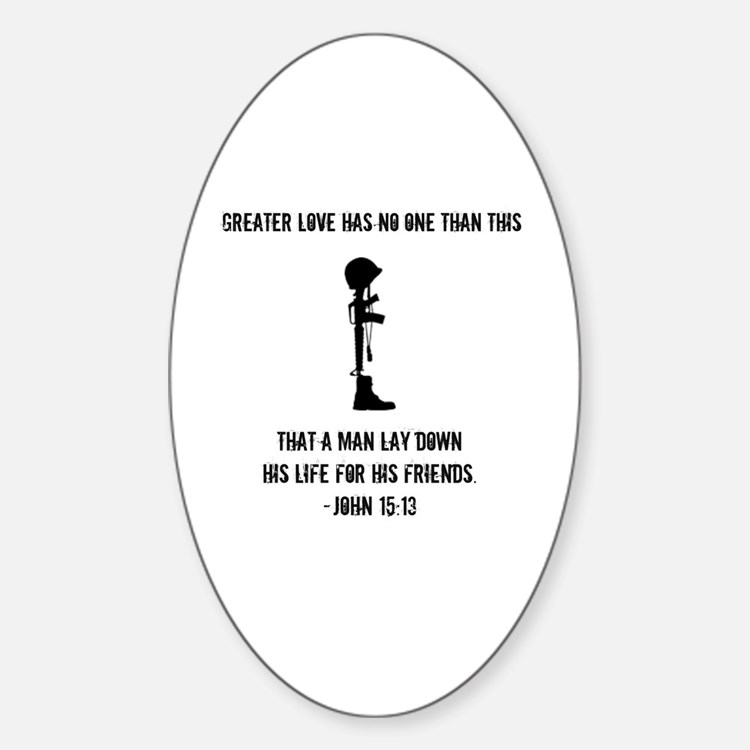 Cute Soldier love Sticker (Oval)