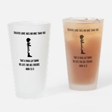 Cute Honor the fallen Drinking Glass