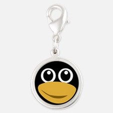 Funny tux face Charms