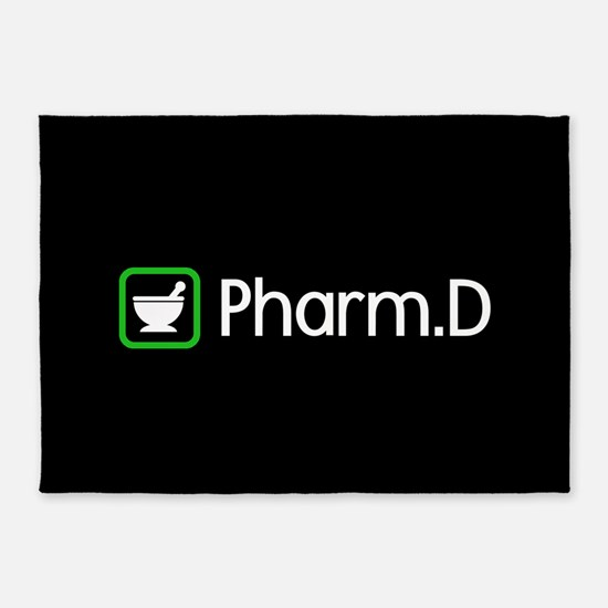 Pharm.D (Green) 5'x7'Area Rug