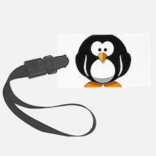 Cute round cartoon penguin Luggage Tag