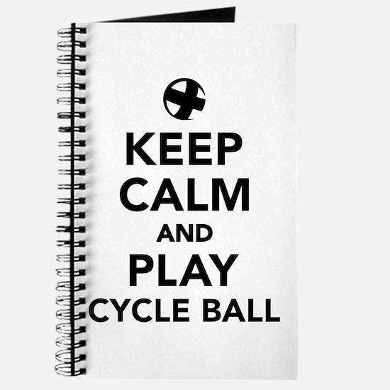 Keep calm and play cycle ball Journal