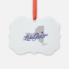 Unique Lake george Ornament