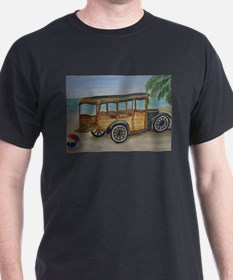 OLDTIME WOODIE BEACH WAGON T-Shirt