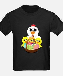 Funny chicken with a basket full of Easter T-Shirt